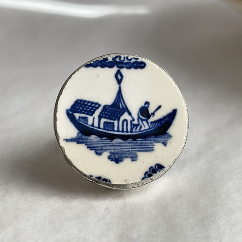 JH Weatherby 'Willow pattern' vintage china ring