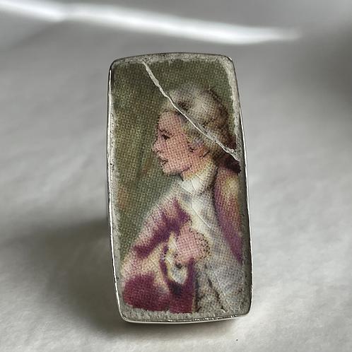 Frank Buckley 'Fragonard design' vintage china ring