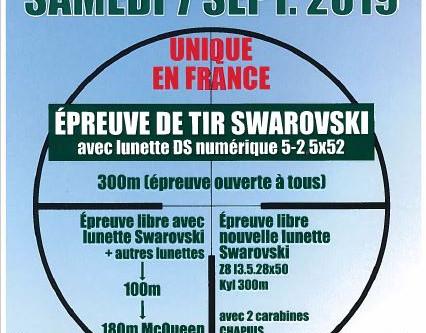 Concours Swaroski & Journée municipale du sport, le samedi 7 septembre 2019.