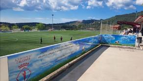 Missatges de civisme al Camp Municipal d'Esports Kiko Casilla d'Alcover