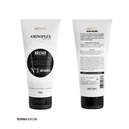 Aneethun Máscara Aminoplex 200 g ideal para uso imediato pós-química