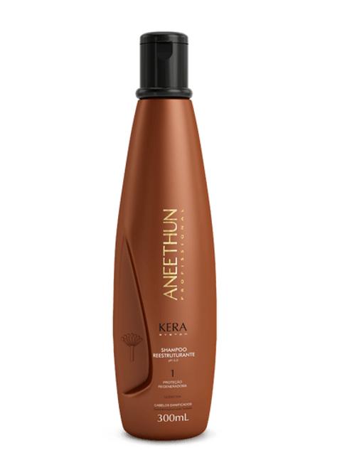 Shampoo Kera System 300 mL Reestruturante sem agressão aos fios.