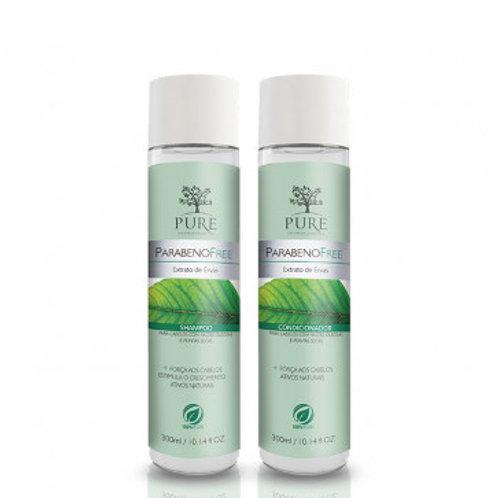 Kit Pure Orgânico Shampoo 300g + Condicionador 300g Extrato de Ervas