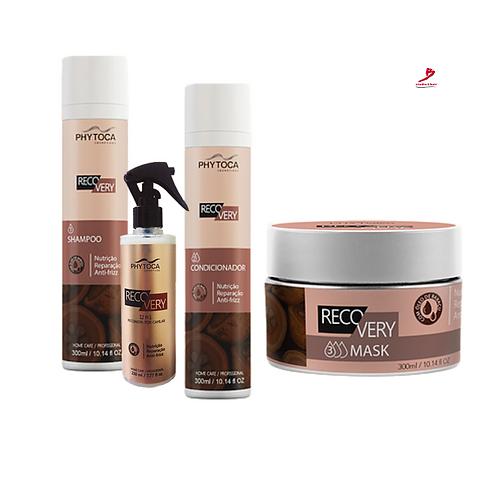 Kit Phytoca Recovery Shaampoo+Condicionador+Mascara+Recovery