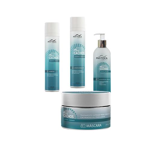 Kit Phytoca Mais Cachos Shampoo+Condicionador+Mascara+Ativador