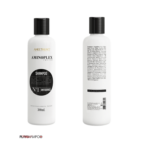 Shampoo Aminoplex 300 mL limpa Nutre e Fortalece.
