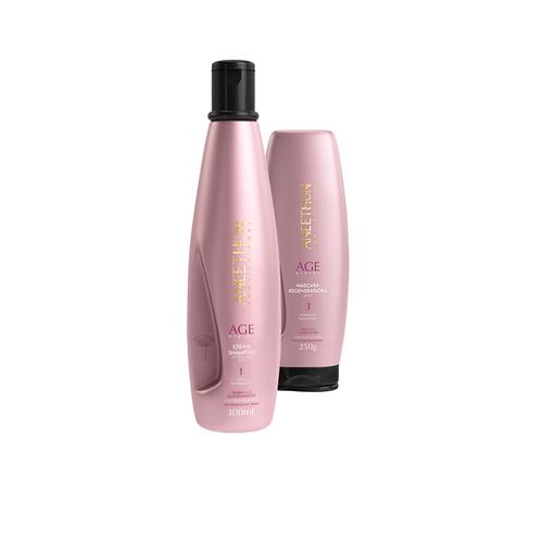 Aneethun Cream Shampoo 300g +Máscara Regeneradora 250g Age System 300 mL