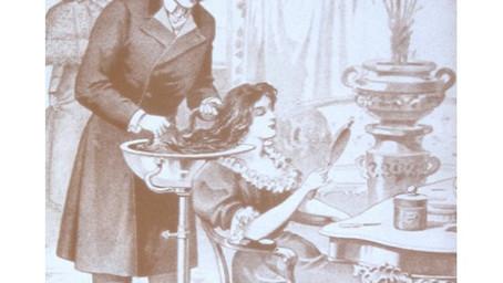 O primeiro cabeleireiro registrado na historia .