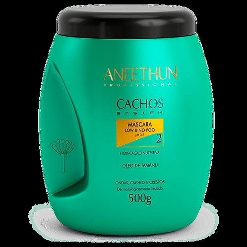 Aneethun Máscara Cachos System 500 g hidratação e nutrição.