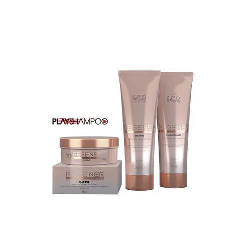 Regenér Home Care Kpro Kit Shampoo+condicionador+mascara