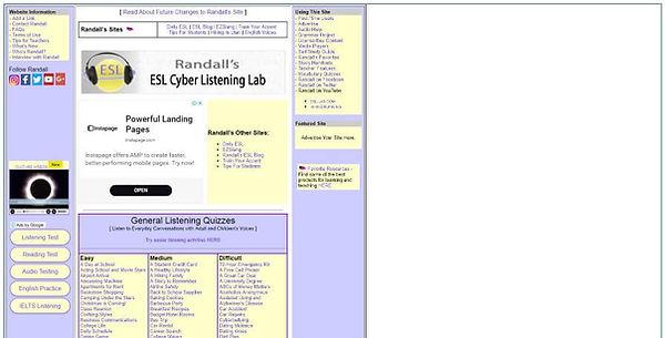 Randall's ESL Cyber Listening Lab Website