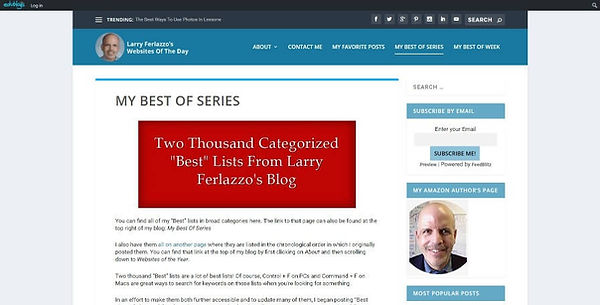 Larry Ferlazzo's Websites of the Day Website