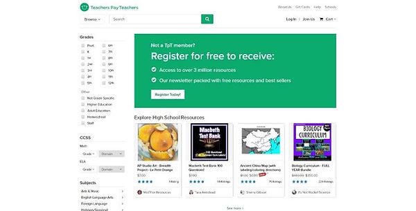 Teachers Pay Teachers Website