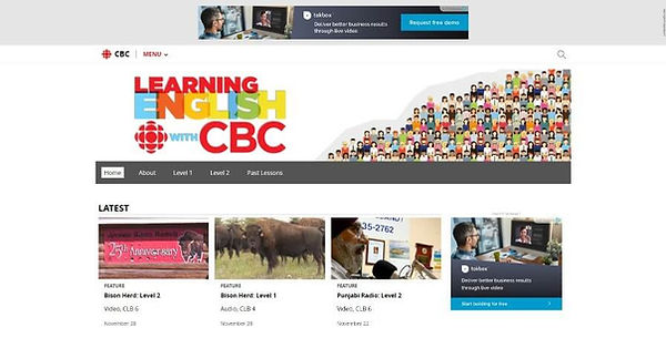 Learning English with CBC Website