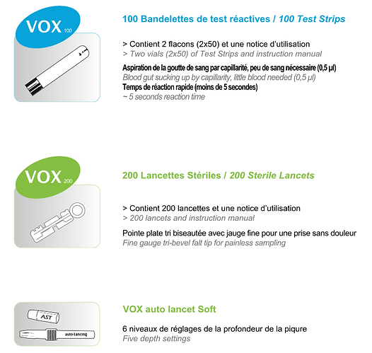 Lecteur de glycémie VOX - Visuconsommables