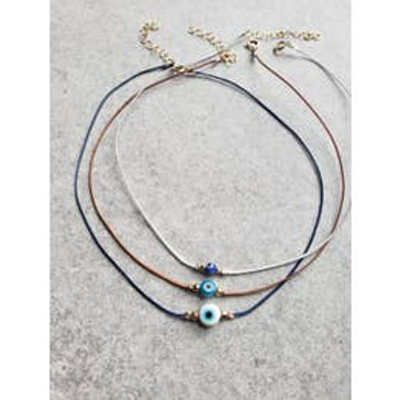 Evil Eye String Choker Necklace