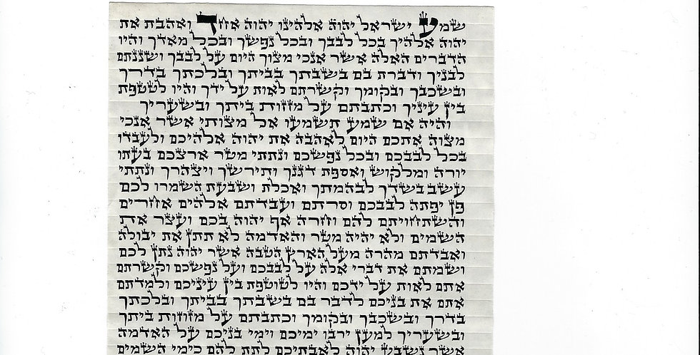 12 Centimeter Mezuzah Scroll