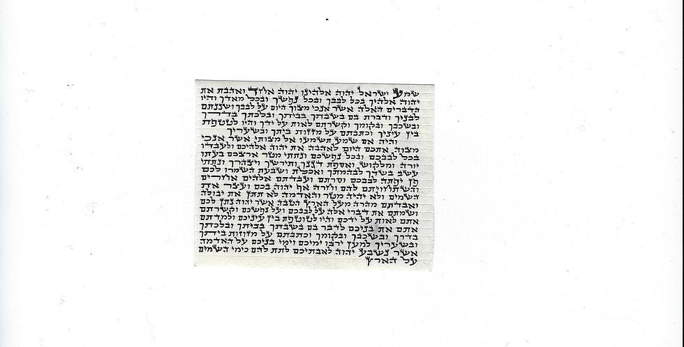 6 Centimeter Mezuzah Scroll