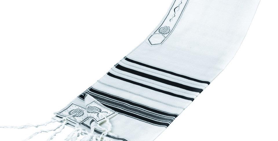 Tallis Wool Lurex Stripes