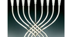 """Illumination"" Highly Polished Chrome Plated Menorah with Flickering Bulbs"