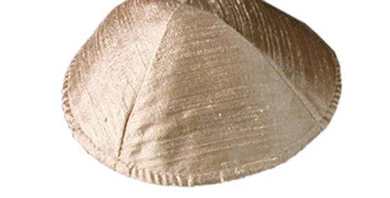 Gold Raw Silk Kippah