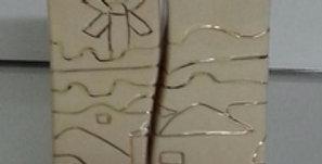 Karshi Ceramic Fitted Candle Holder Jerusalem of Gold