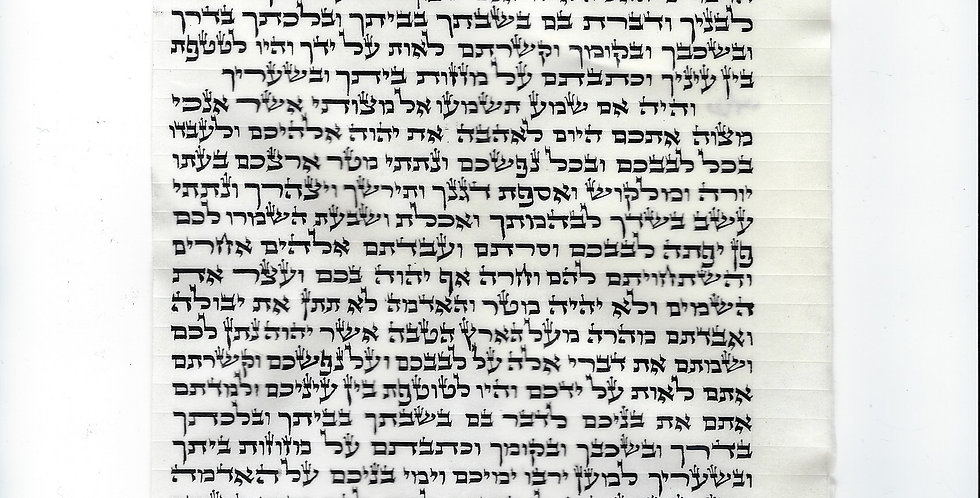 15 Centimeter Mezuzah Scroll