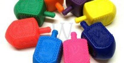 סביבון פלסטיק The Standard Plastic Chanukah Dreidel, assorted of colors.