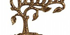 Artistic Tree of Life Menorah - Antique Gold