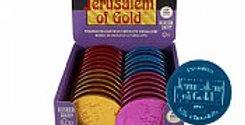 Colored 3' Premium Belgian Milk Chocolate Medallions - Nut Free