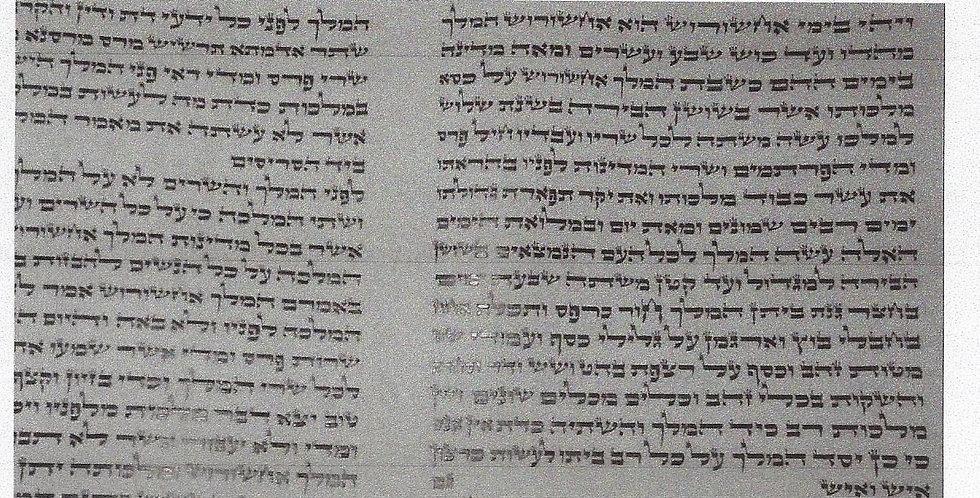 Megilas Esther 14 inch Ksav Ari