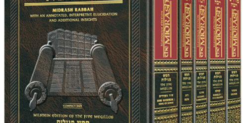 Kleinman Edition Midrash Rabbah Compact Size: Complete 5 volume set of the Megil