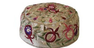 Gold Pomegranate Kippah