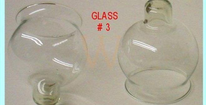 זכוכיות להדלקת נרות בשמן Oil Glass size 3 is a medium size for the Bulb shape Oi