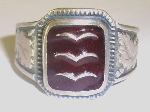 Luftwaffe silver ring, WW2  German