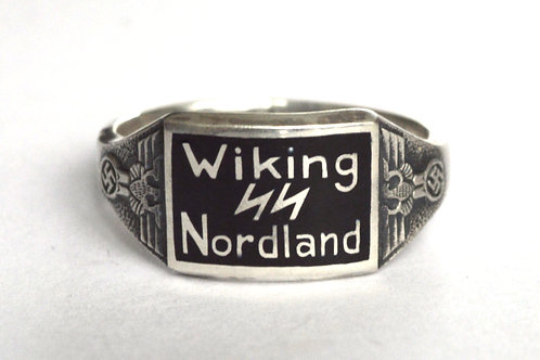 Wiking Nordland SS div.  silver ring