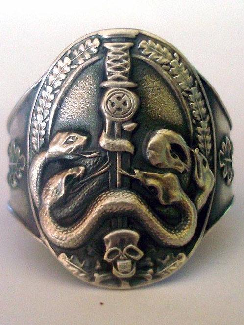 Anti Partisan badge ring silver WW2 German