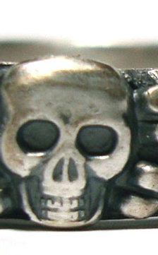 Totenkopfring personalized hand engraving