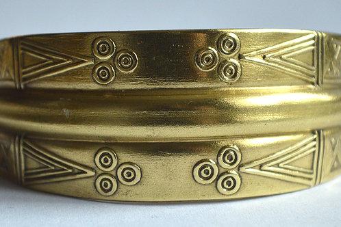 Zvērgalvu aproce (rokassprādze) bronzā