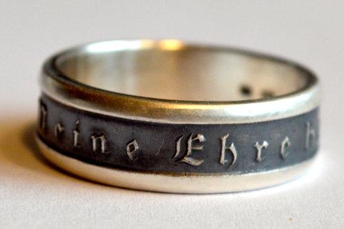 Meine Ehre Heisst Treue WW2 German SS silver ring