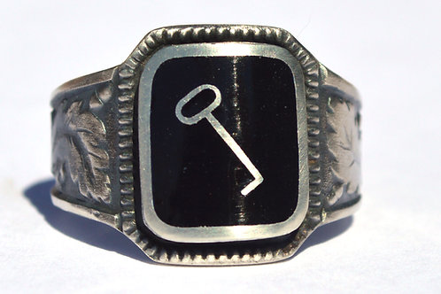 WW2  1st SS Panzer Division LAH  silver ring