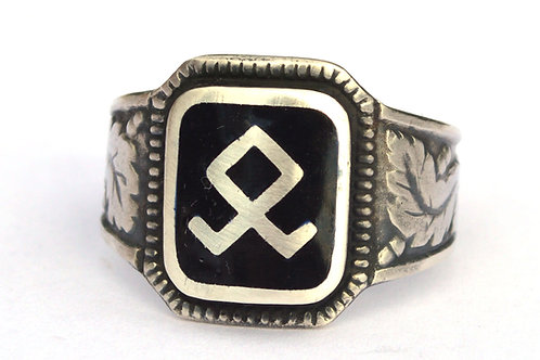 7th SS Div Prinze Eugen  silver ring, WW2 German