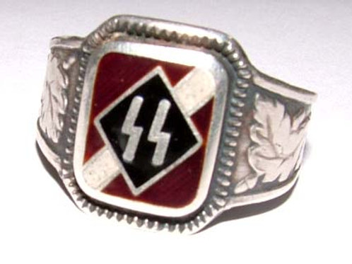WW2  15th 19th SS Latvian divisions  silver ring