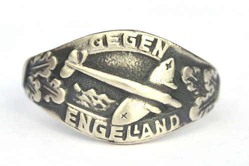 Gegen Engelland WW2 German silver ring