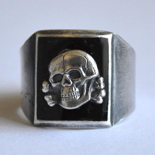 SS silver skull ring WW2 german