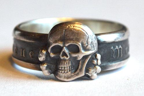 Meine Ehre Heisst Treue  SS silver ring WW2 German