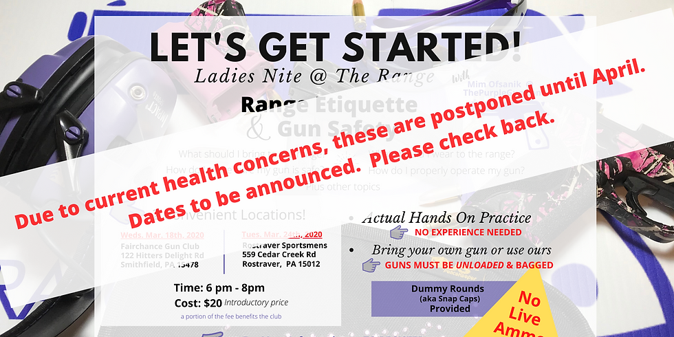 Let's Get Started!  (Ladies Only)