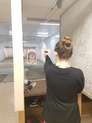 Danielle rockin' the one hand drill!