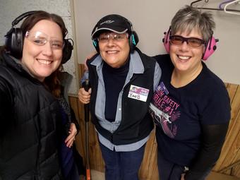 Andrea, Barb & Mim mug for the camera!