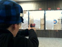 Dana on target
